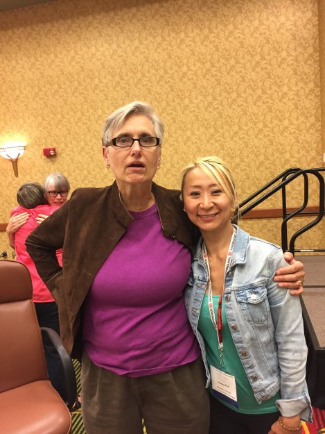 Dr.Terry Wahls and Laihaina Pirri at the Wahls conference 2017 in Iowa